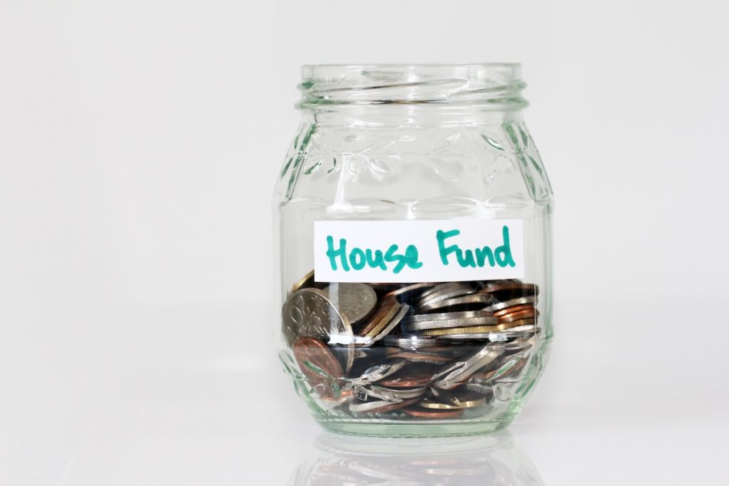 House fund coin jar