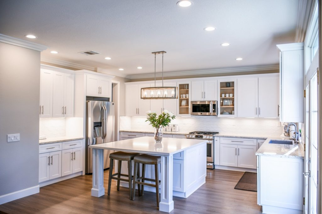 A beautiful, modern kitchen can increase your home's value.